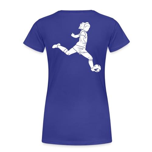 Footballeuse - T-shirt Premium Femme