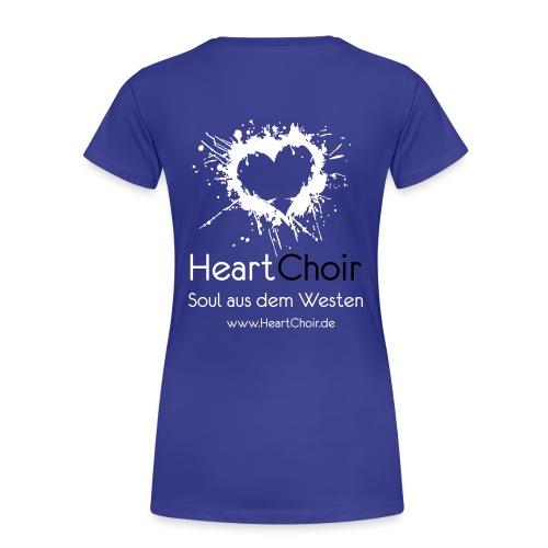 heartchoir logo mit schriftzug und webse - Frauen Premium T-Shirt