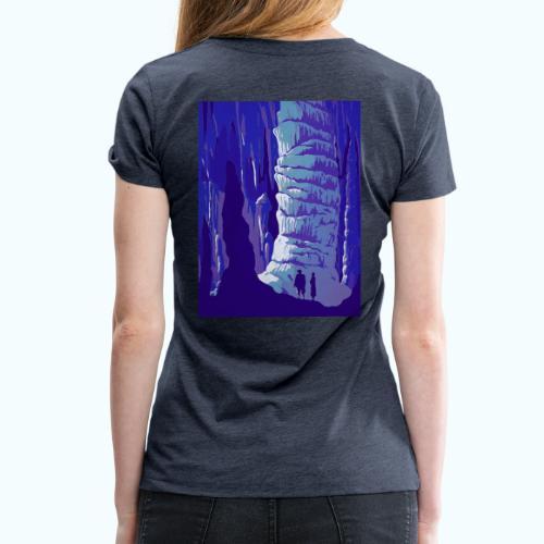 Fancy Grotto Vintage Travel Poster - Women's Premium T-Shirt
