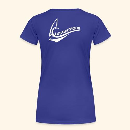 Logo Club Nautique weiß - Frauen Premium T-Shirt