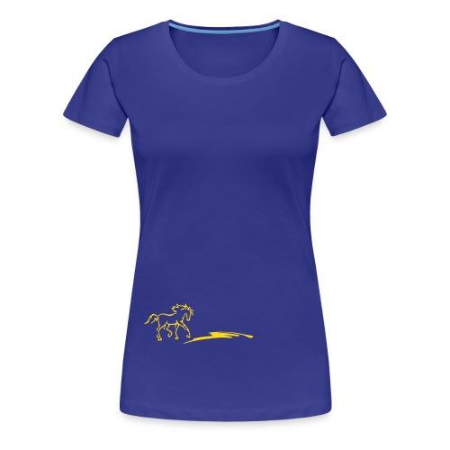 Pferd und Strich - Frauen Premium T-Shirt