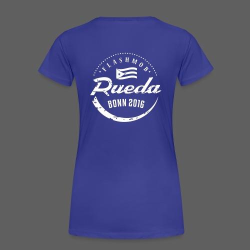 Rueda flashmob Logo_weiss - Frauen Premium T-Shirt