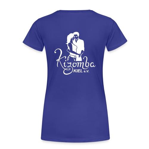 kizombalogo weiss Pixel - Frauen Premium T-Shirt