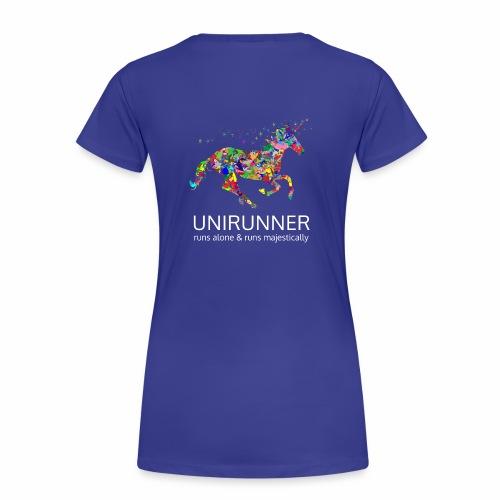 unirunner - alleen voor magische hardloopfans - Vrouwen Premium T-shirt