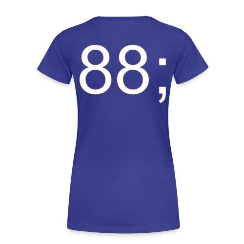 88 Backprint - Women's Premium T-Shirt