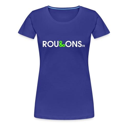 logoblancFluo_Roulons.fr - T-shirt Premium Femme
