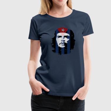 Che Guevara Flag Cuba - Premium-T-shirt dam