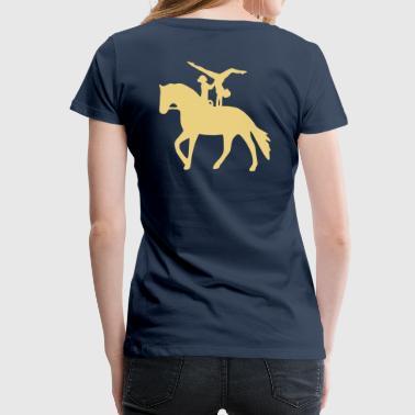 Doppelvoltigieren Handstand rückwärts - Frauen Premium T-Shirt