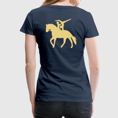 Doppelvoltigieren Handstand - Frauen Premium T-Shirt