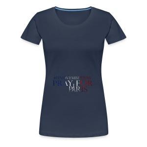 Pray for paris with France flag - Vrouwen Premium T-shirt