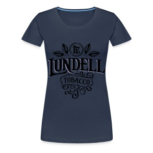 LUNDELL TOBACCO LOGO With Shadow - Premium-T-shirt dam