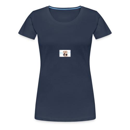 Hond Met Koptelefoon Op Borst - Vrouwen Premium T-shirt