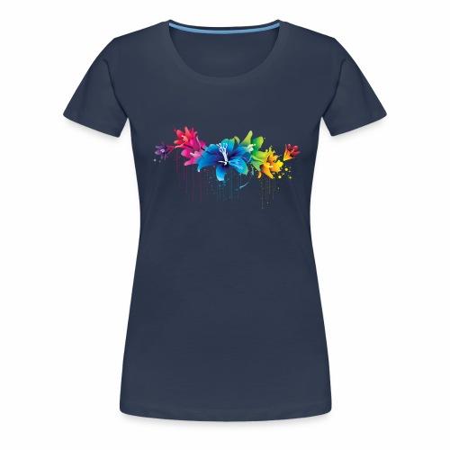 Flowers multicolor - Maglietta Premium da donna