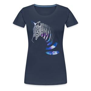 X-Shirt mit Zebra design - Frauen Premium T-Shirt