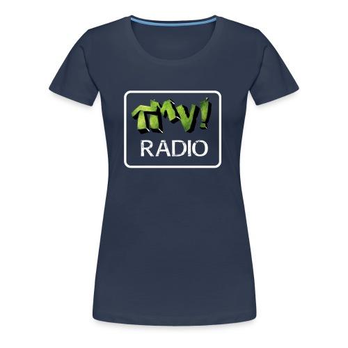 TMV RADIO logo bianco - Maglietta Premium da donna