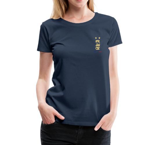 Champion du monde 1998 - 2018 macaron doré france - T-shirt Premium Femme