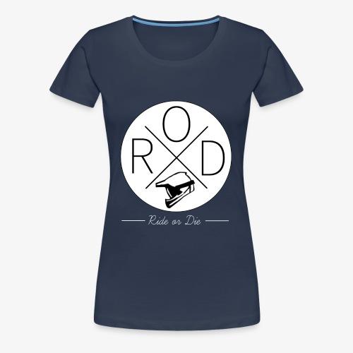 RideorDie Weiß - Frauen Premium T-Shirt