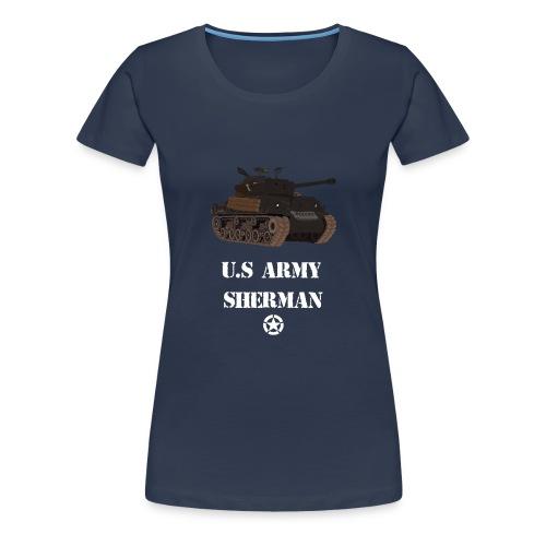 Sherman Tank WW2 - Women's Premium T-Shirt