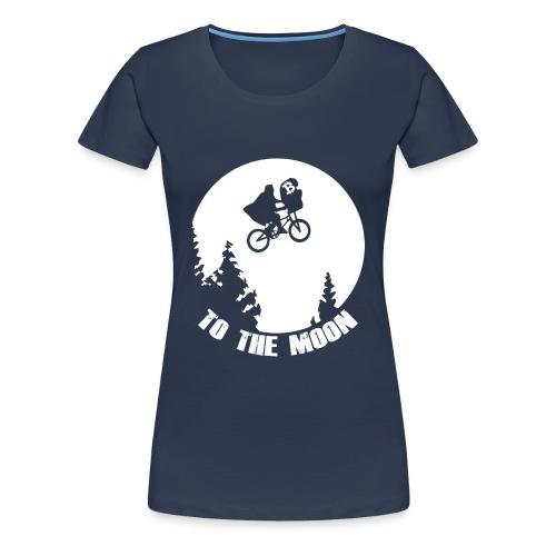 to the moon,bitcoin - Vrouwen Premium T-shirt