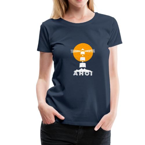 Ahoi Leuchtturm Baltic.sh.design Gelb Sonne Surfer - Frauen Premium T-Shirt