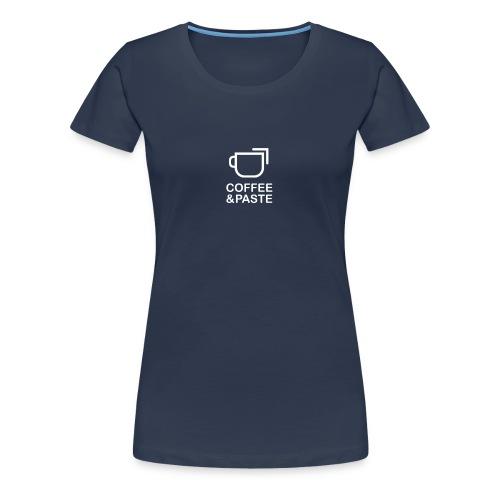Coffee and Paste Logo - Frauen Premium T-Shirt