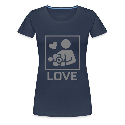 SPREADSHIRT_PORTAL_CUBE_LOVE - Maglietta Premium da donna