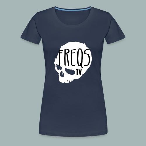FreqsTV Official Logo White - Frauen Premium T-Shirt