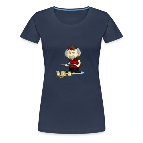 WOMENS L/Sleeve TEE REinstein Bee Logo top left - Women's Premium T-Shirt