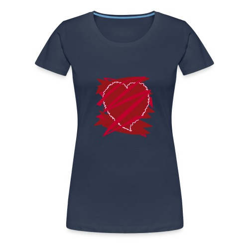 corazón enamorado, corazón roto - Camiseta premium mujer