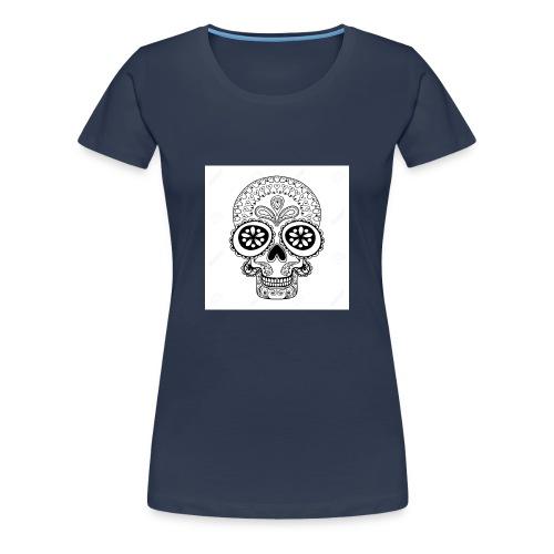51457190 Disegno a mano Cranio in stile zentangle - Maglietta Premium da donna