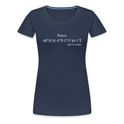 Koordinaten Shirt Paris - Frauen Premium T-Shirt