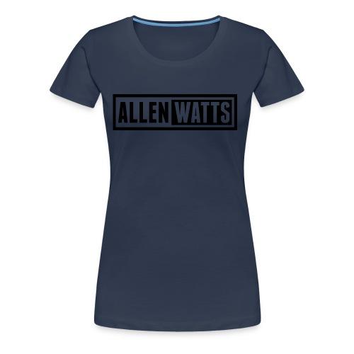 ALLEN WATTS LOGO DARK - Vrouwen Premium T-shirt