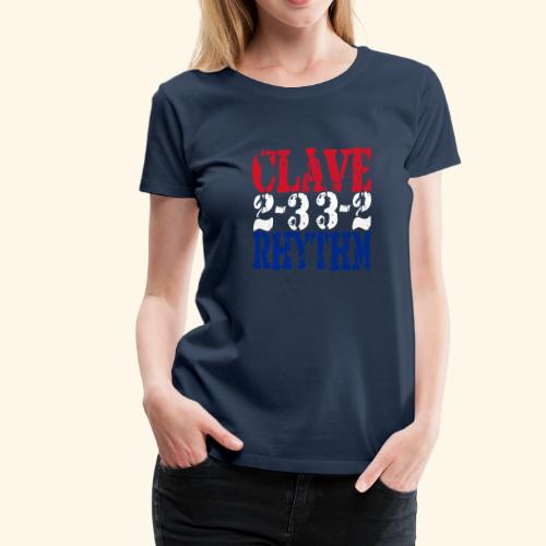 Clave Rhythm Salsa Music Dance Gift T-Shirt - Women's Premium T-Shirt