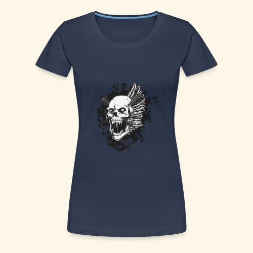 Suffering Skull - Women's Premium T-Shirt