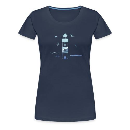 Leuchtturm Wellen - Frauen Premium T-Shirt