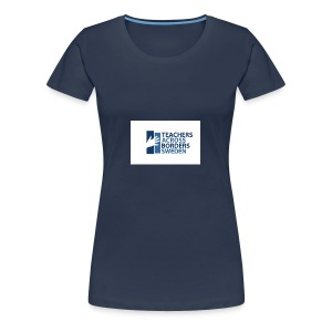 Teachers across borders logga - Premium-T-shirt dam