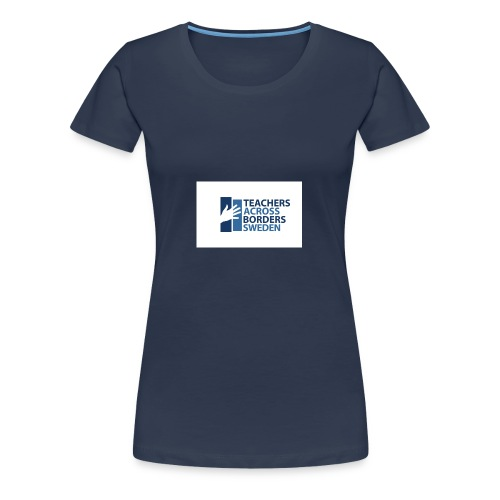 Teachers across borders logga - Premium-T-shirt dam