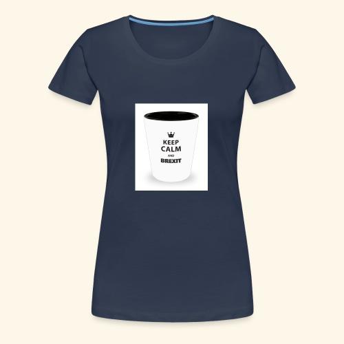 Shot Glass with inscriptions Keep Calm & Brexit - Women's Premium T-Shirt