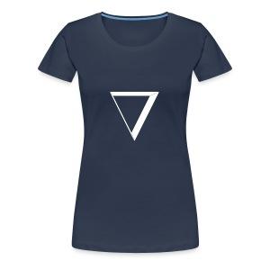 white triangle - Koszulka damska Premium