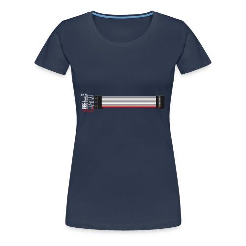 Red stripe down! - Women's Premium T-Shirt