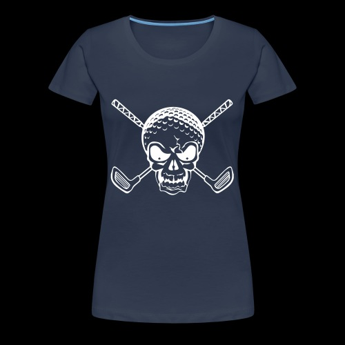 Schwarzlicht Semester Totenkopf Weiss - Frauen Premium T-Shirt
