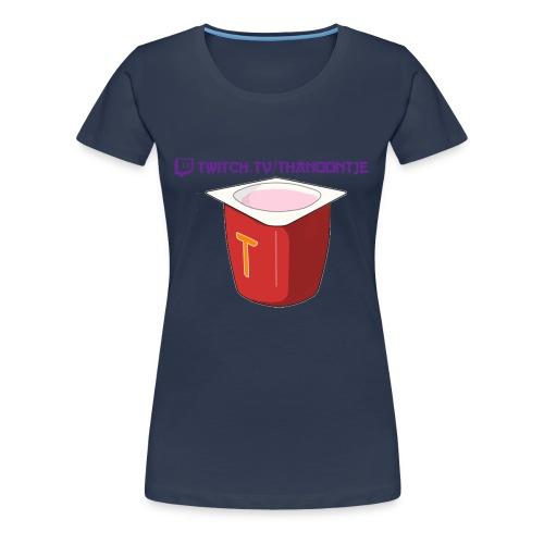 Thanoontje logo backside female - Women's Premium T-Shirt