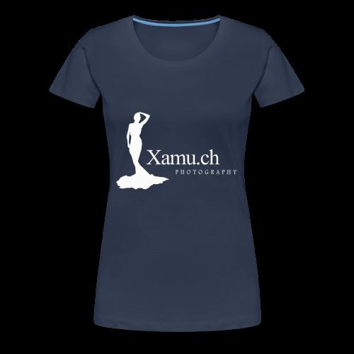 logoxamuweiss_gross_kl - Frauen Premium T-Shirt