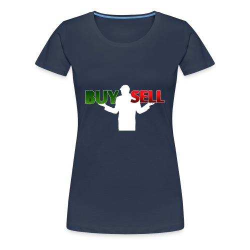 Buy Sell mit weißer Person - verschiedene Farben - Frauen Premium T-Shirt