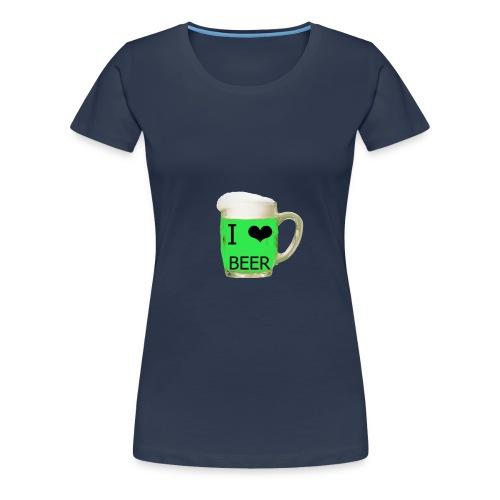 ich liebe Bier gruen - Frauen Premium T-Shirt
