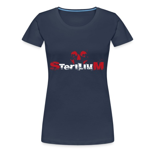 SteriliumLogo weiß-rot - Frauen Premium T-Shirt