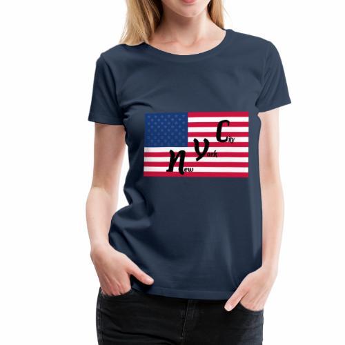 America Flag NYC - Frauen Premium T-Shirt