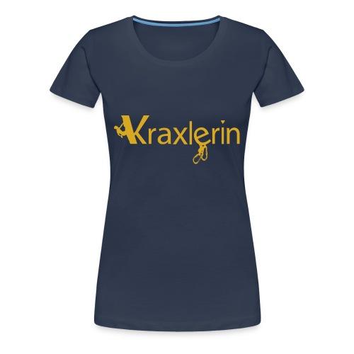 Kraxlerin, die Tiroler Klettrerin - Frauen Premium T-Shirt