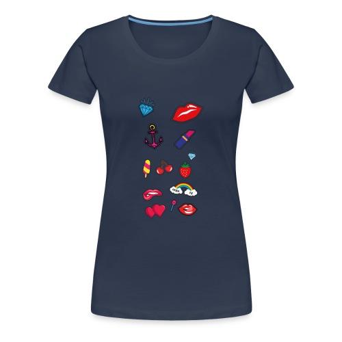 ecussons pop - T-shirt Premium Femme
