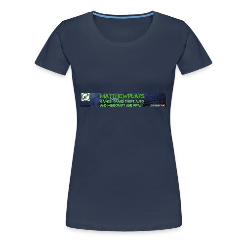 White YouTube Banner Tee - Women's Premium T-Shirt
